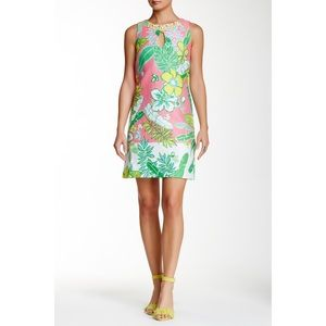 Just...Taylor Floral Jeweled Neck Shift Dress